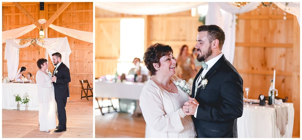 groom dances with mom