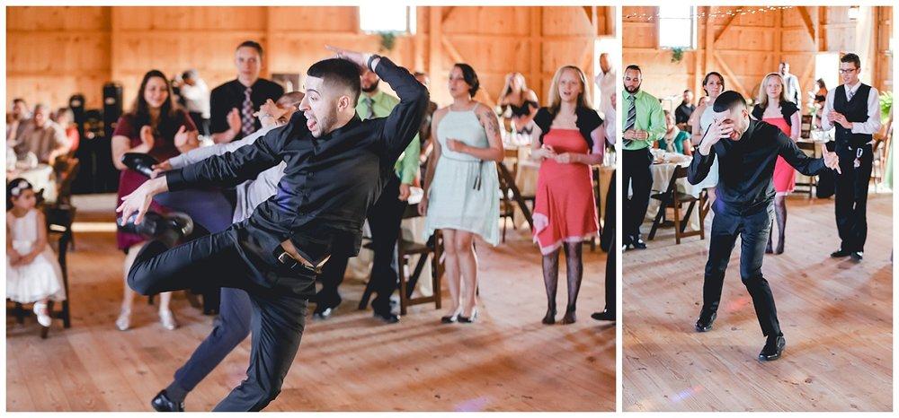 dancer at wedding reception