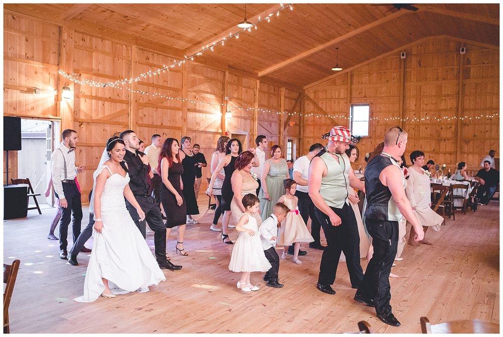 reception group dances