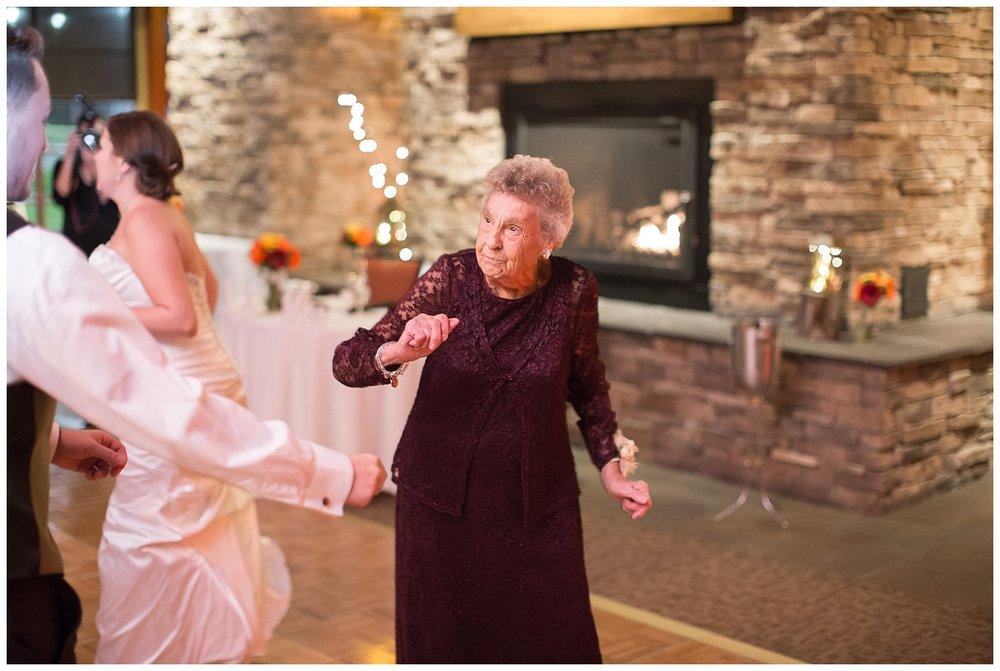 grandma dances at wedding reception