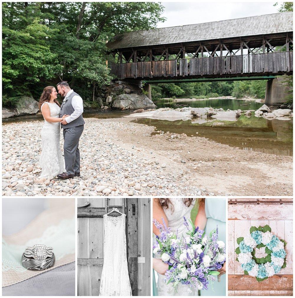 rustic maine wedding bridge