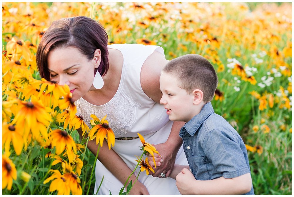 lititz pa wildflower field mother son flowers