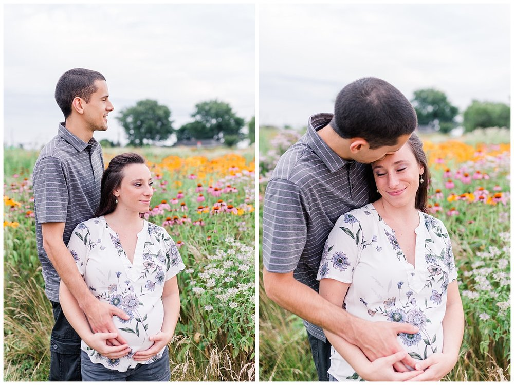 Lititz PA maternity session wildflowers