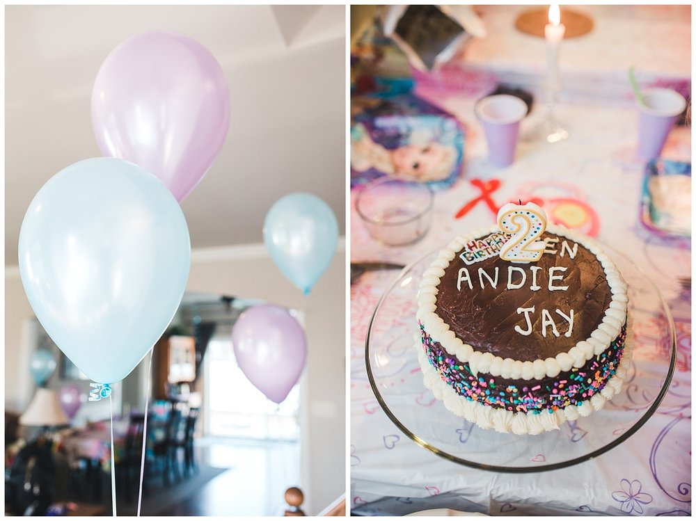 2nd birthday party cake balloons