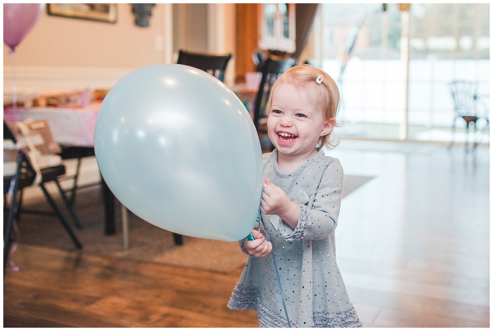 2nd birthday party, 2 years old, balloons, laughter