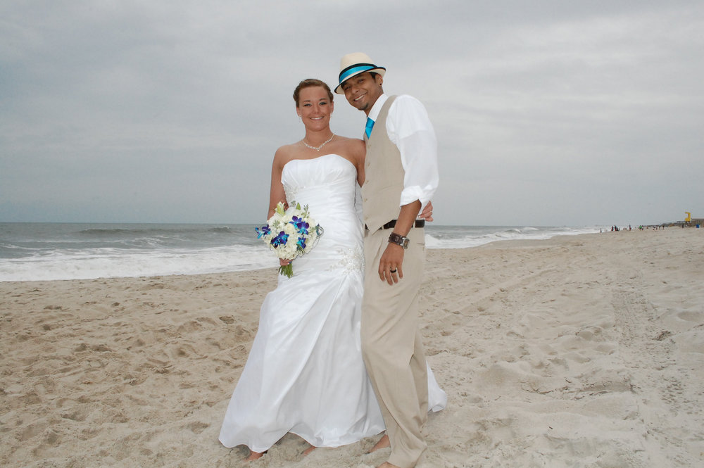 Oak Island Bride and Groom