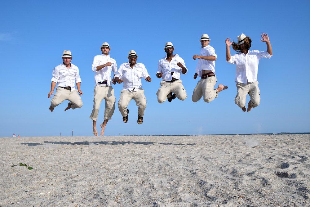 Beach leap.