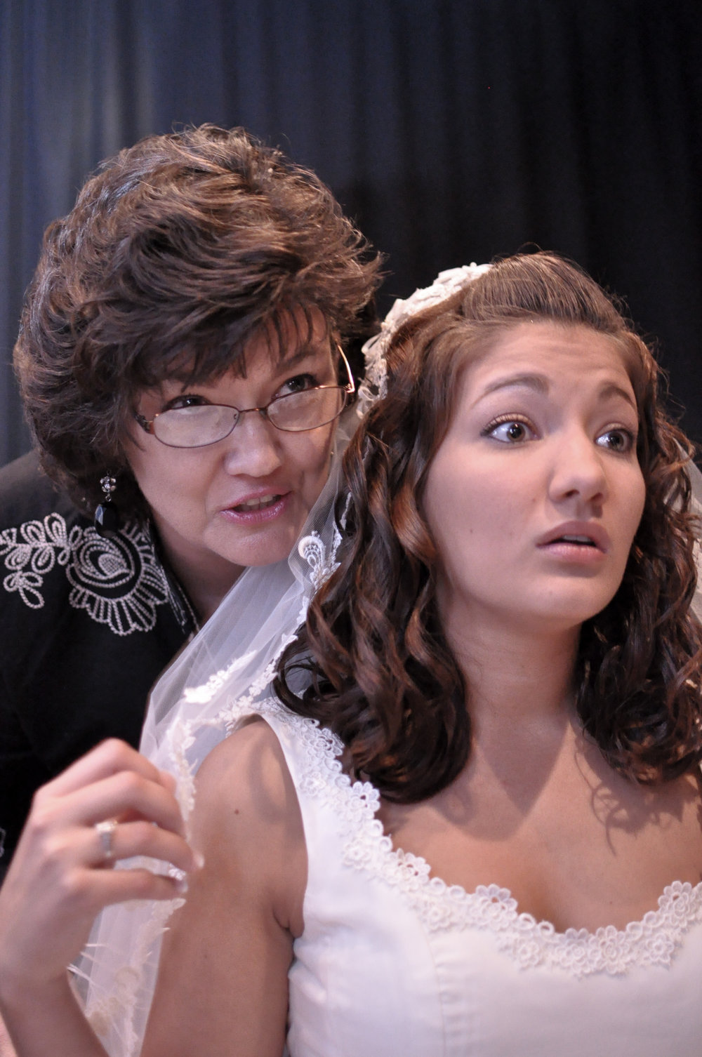 Bride and Mom.