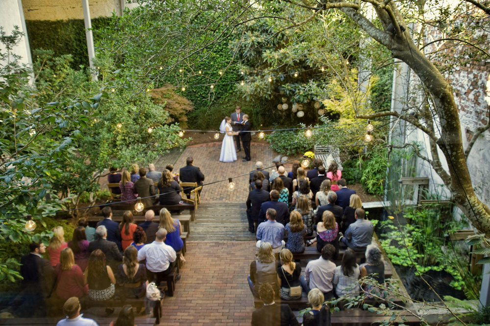 Ceremony at the Atrium, Wilmington, NC.