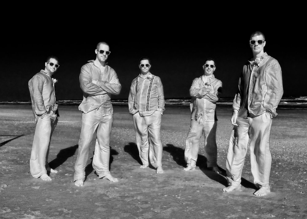 Faux infrared groomsmen.