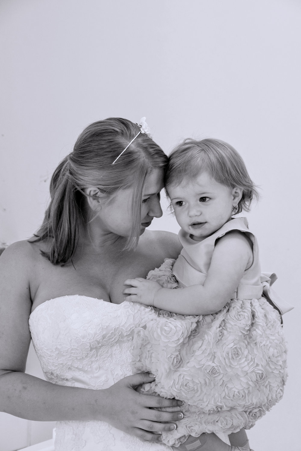 Bride and daughter.