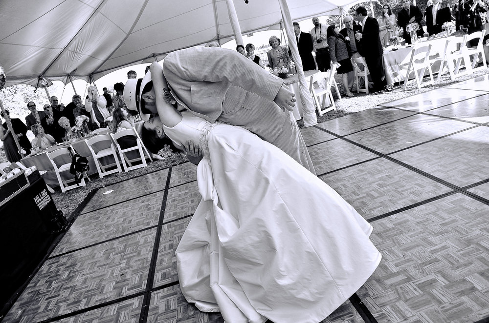 First dance dip.
