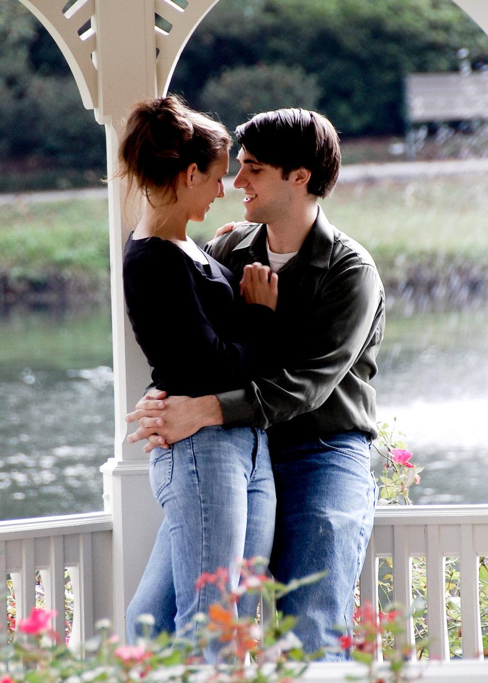 Engagement portrait in Hugh McRae Park in Wilmington, NC.