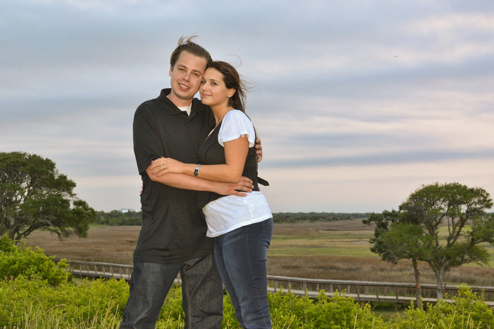 Fort Fisher, NC Engagement shot.