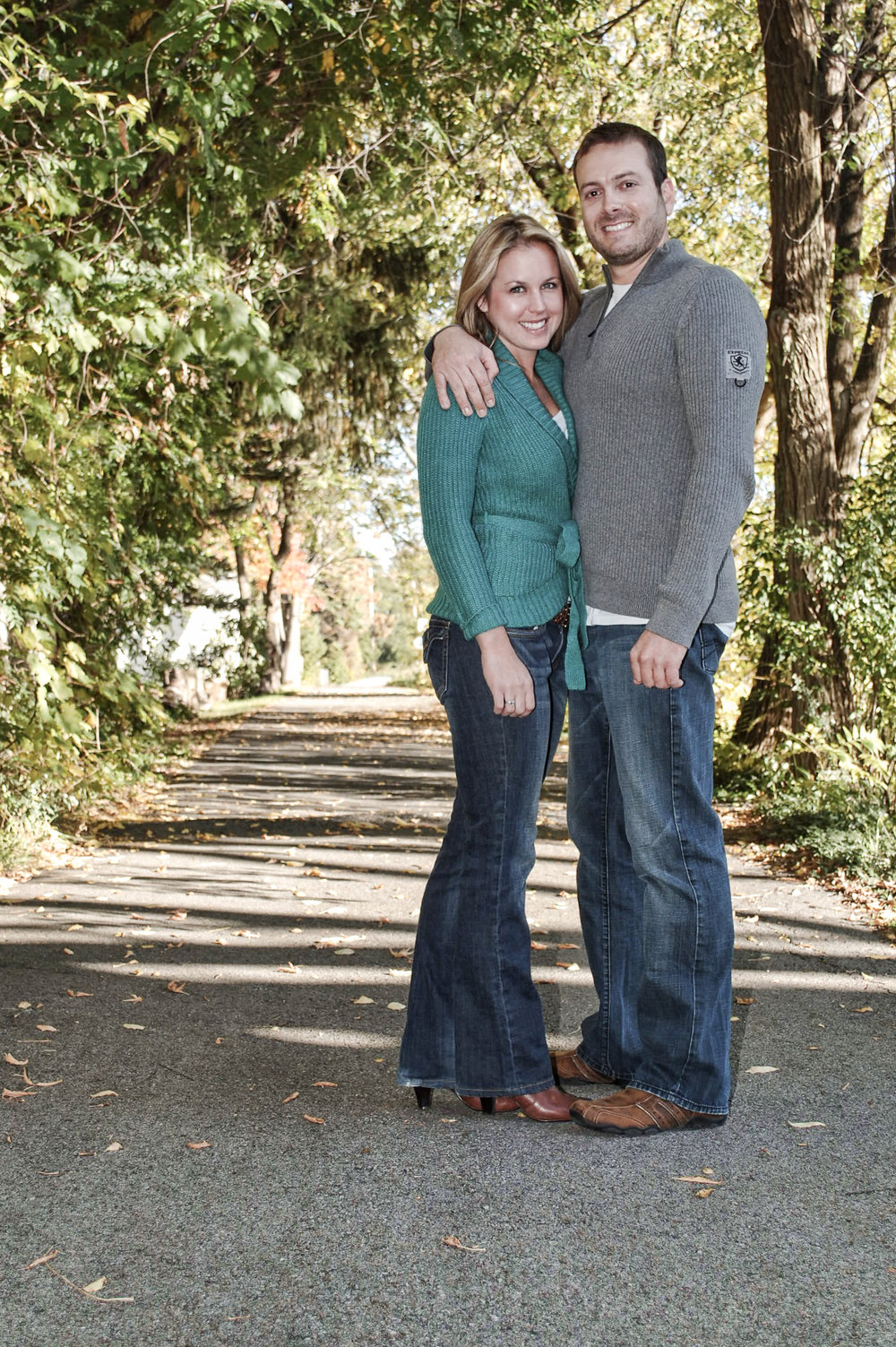 Engagement session on Erie Canal.