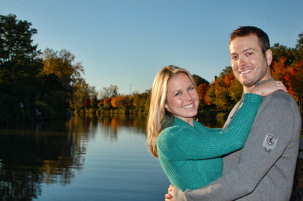 Engagement portrait on the Erie Canal.