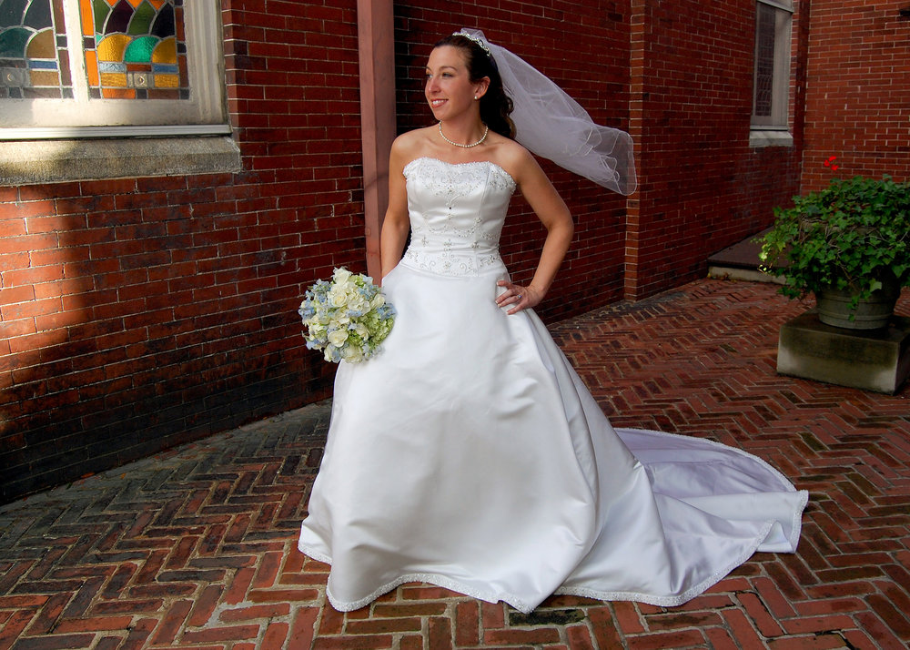 Impromptu Bridal Portrait.