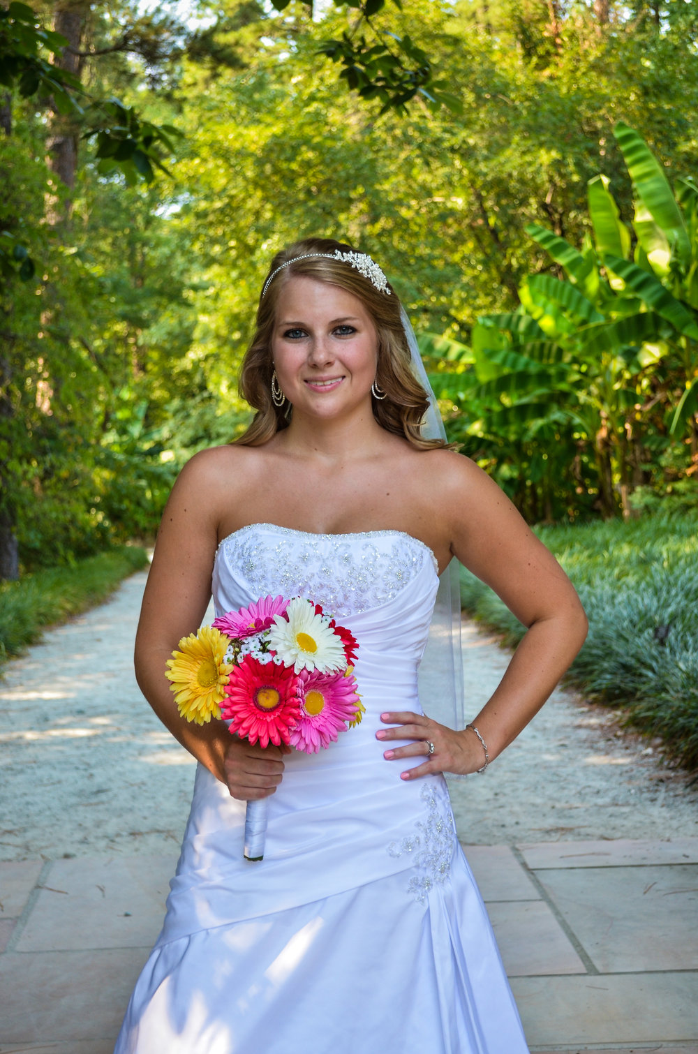 Bridal portrait in Wilmington, NC.