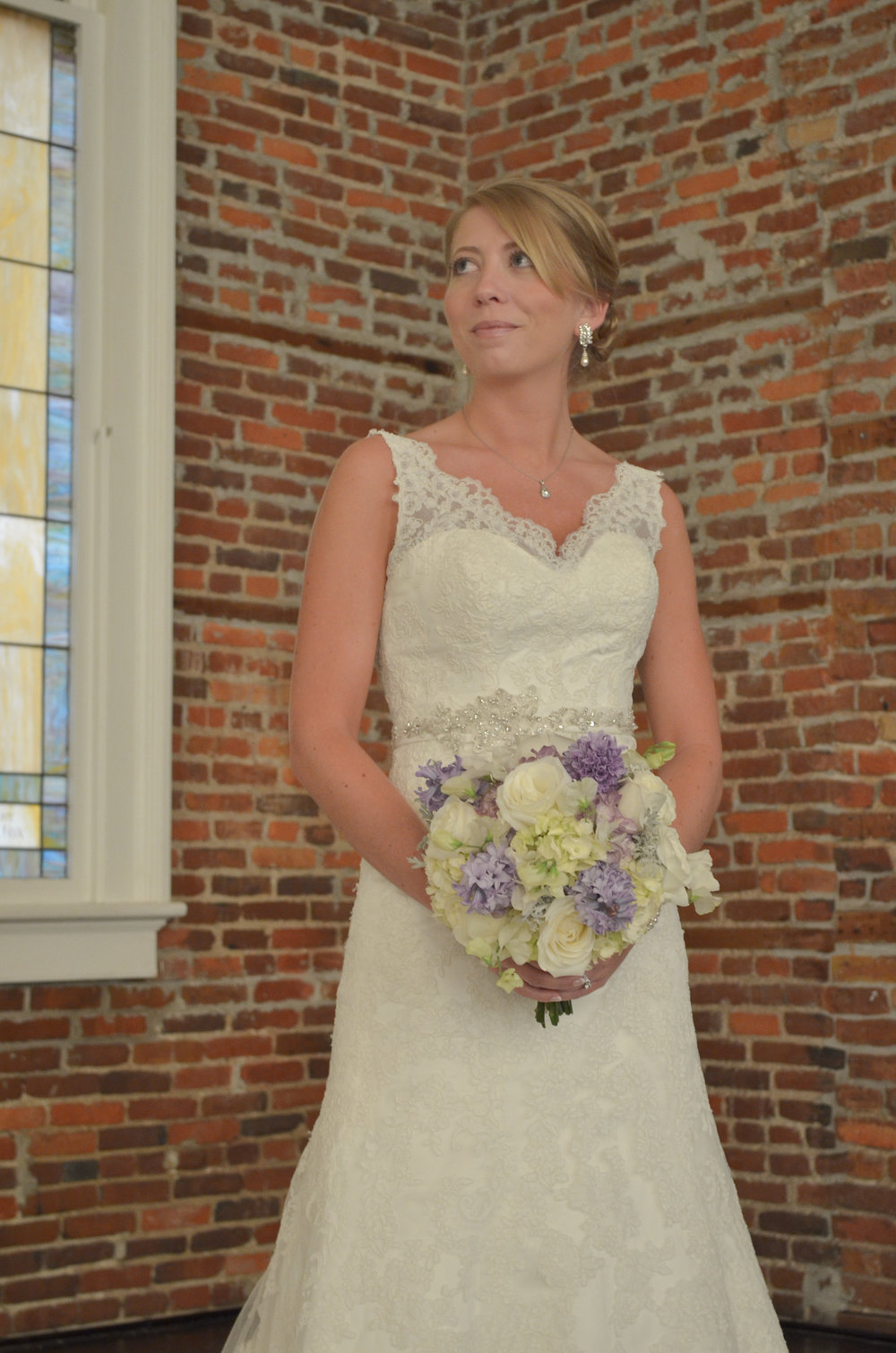 Bridal Portrait, Saint Thomas Preservation Hall, Wilmington, NC.