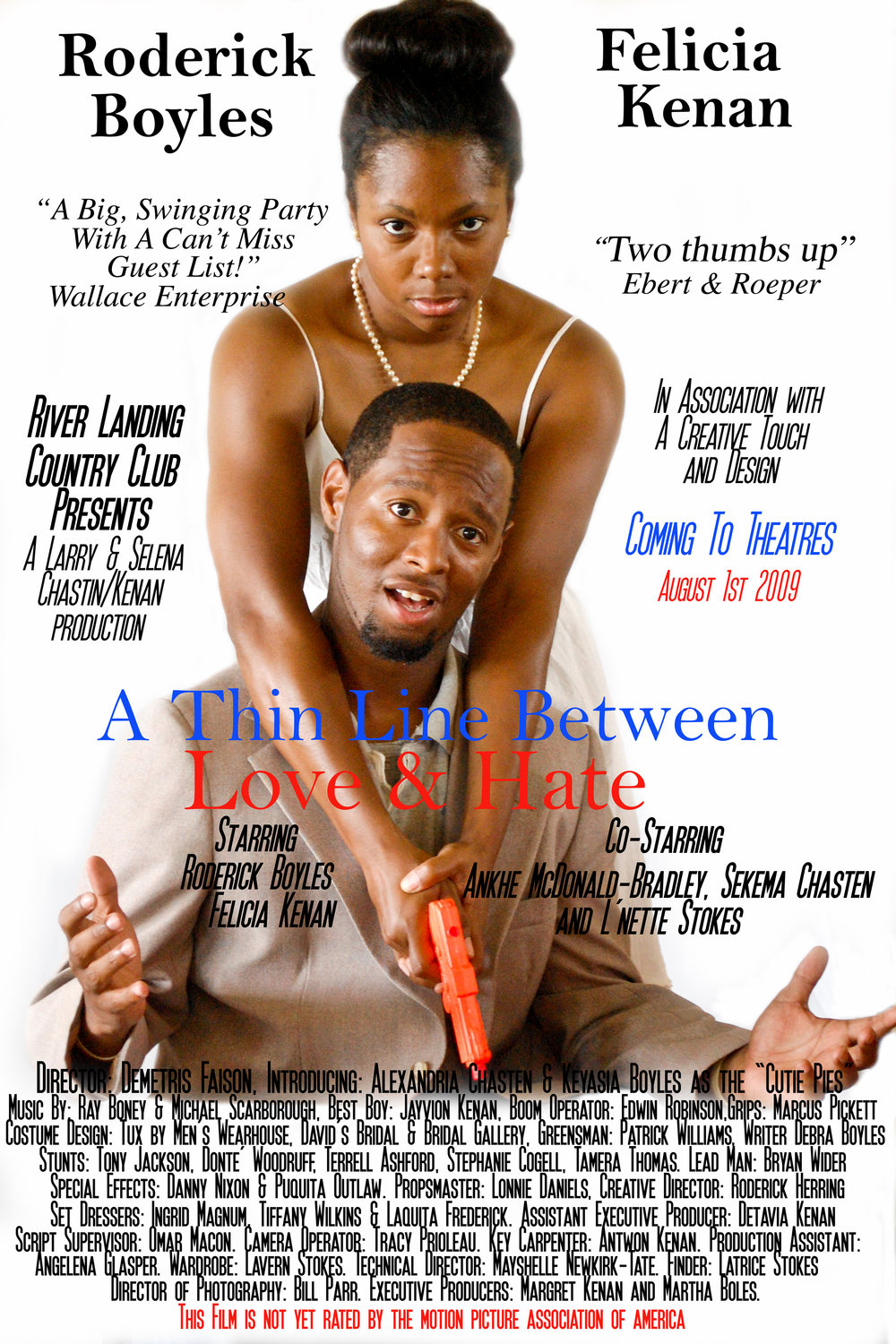 Wedding Movie Poster. A Thin Line Between Love and Hate.