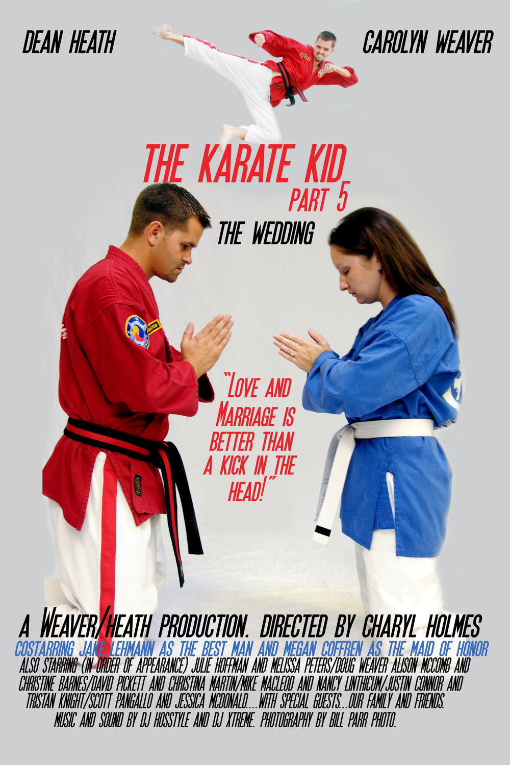 Wedding Movie Poster. The Karate Kid.