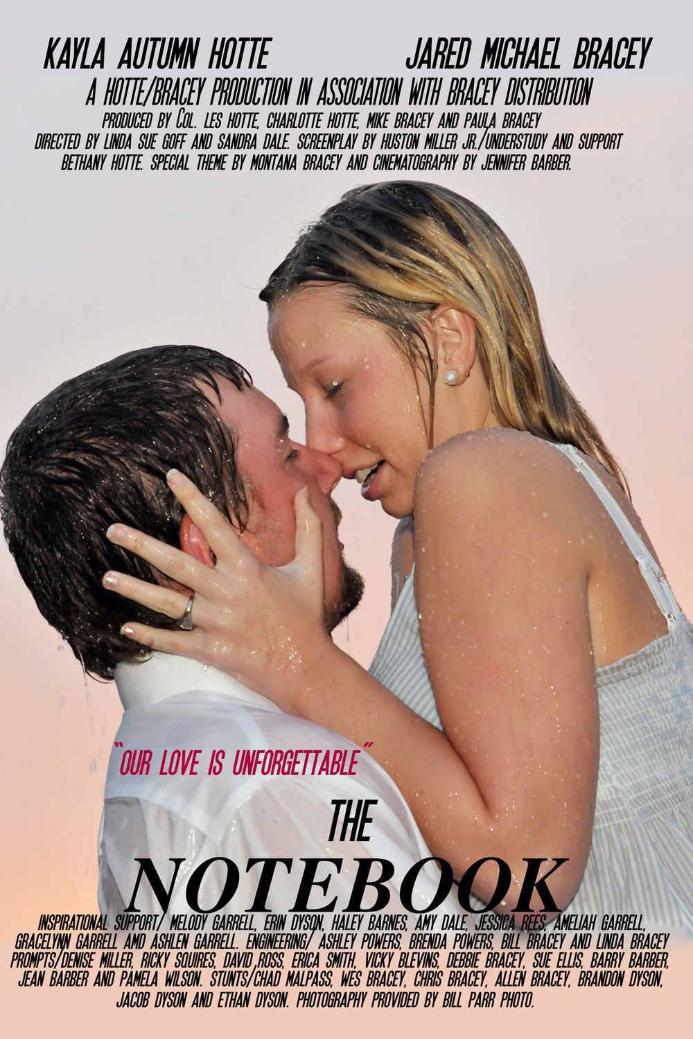 Wedding Movie Poster. The Notebook.