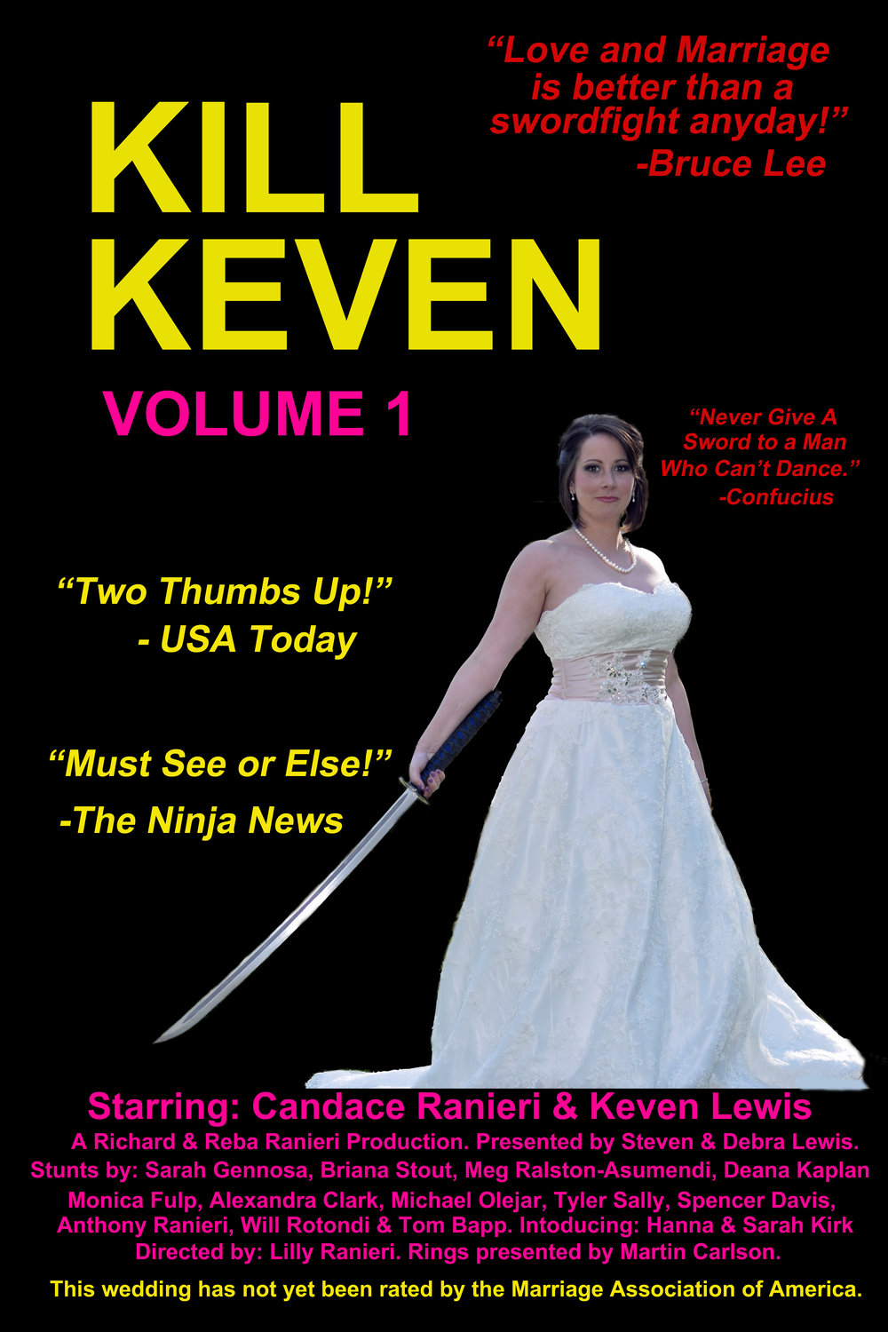 Wedding Movie Poster. Kill Kevin.