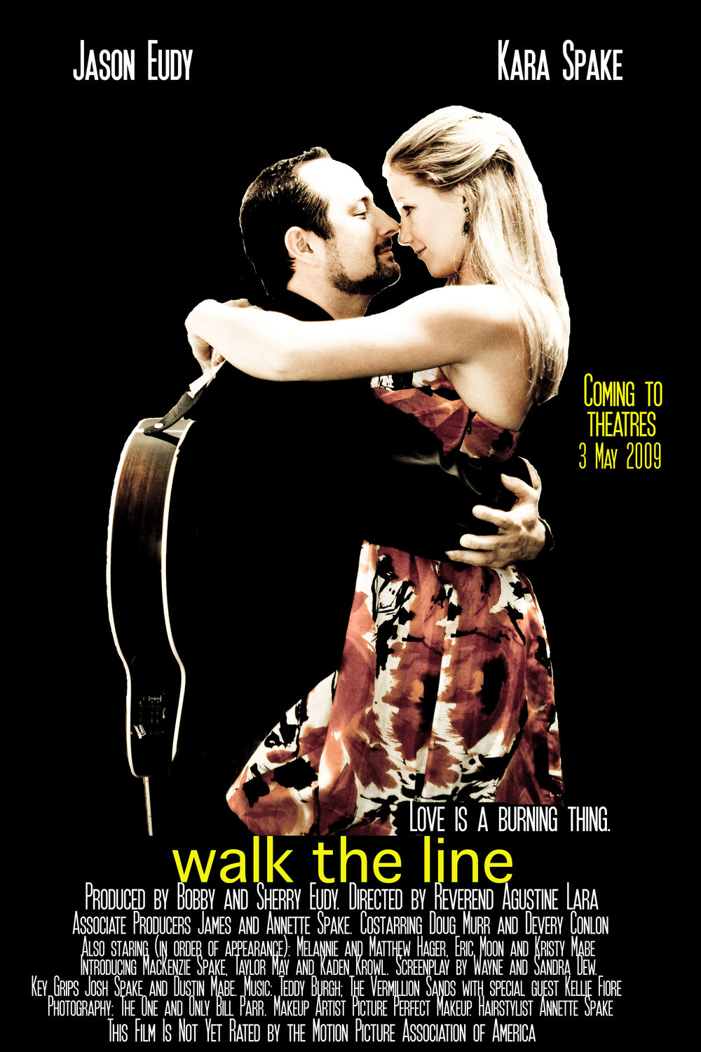 Wedding Movie Poster. Walk the Line.