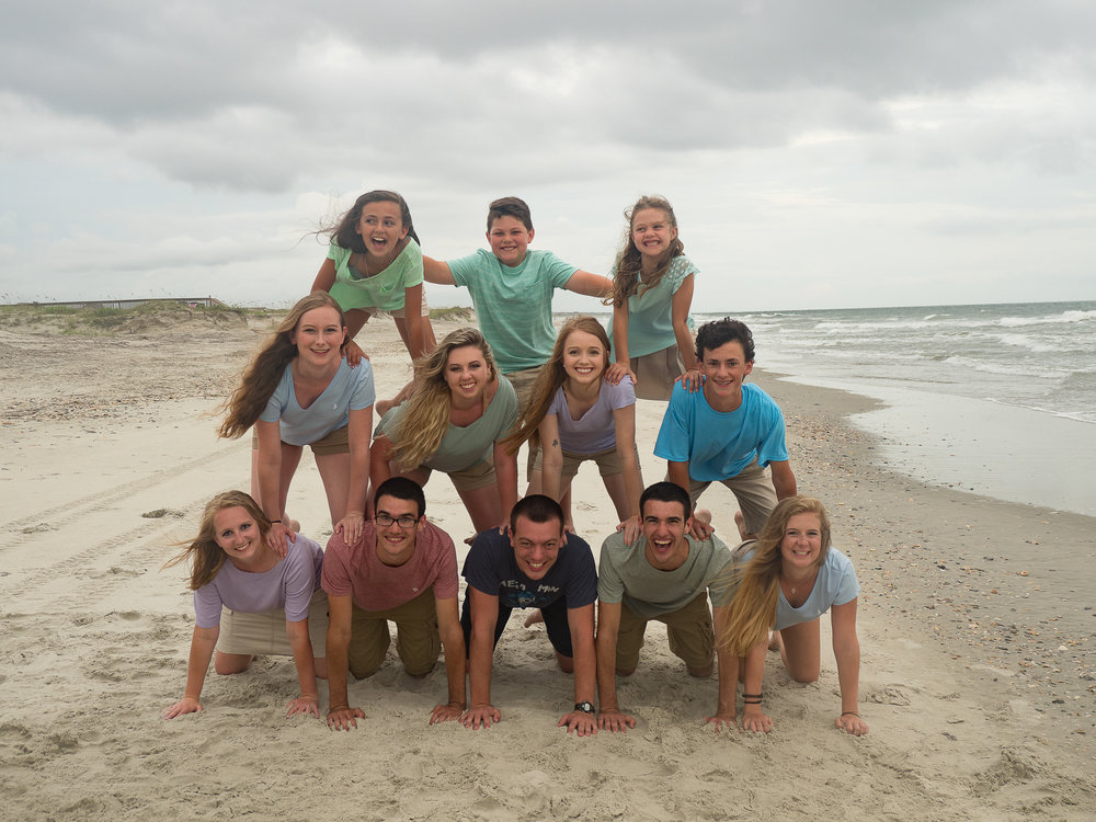 - This is why I love big groups. Get to have some fun! Holden Beach, NC.