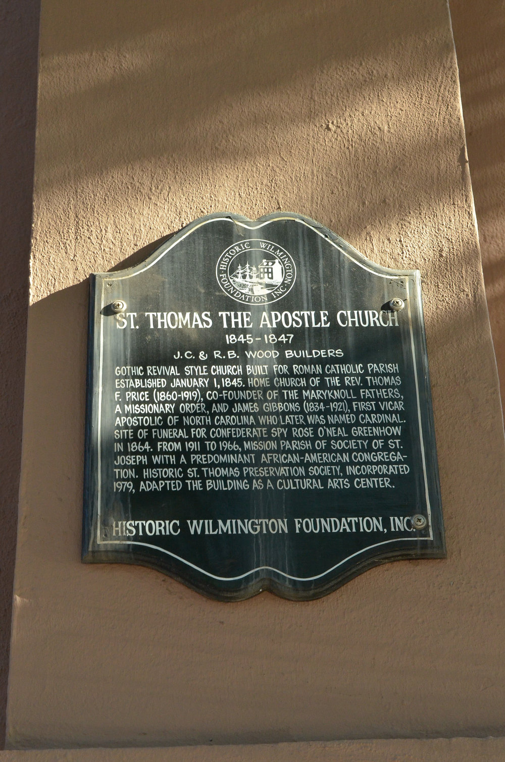 - Saint Thomas Preservation Hall marker. 208 Dock Street, Wilmington, NC. Billy Beach Photography.
