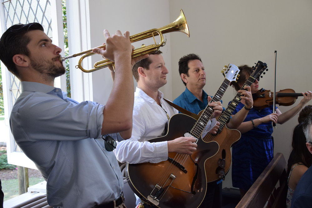 - Nothing like good live music at a wedding. They were fantastic. Lebanon Chapel, Airlie Gardens in Wilmington, NC. Billy Beach Photography.