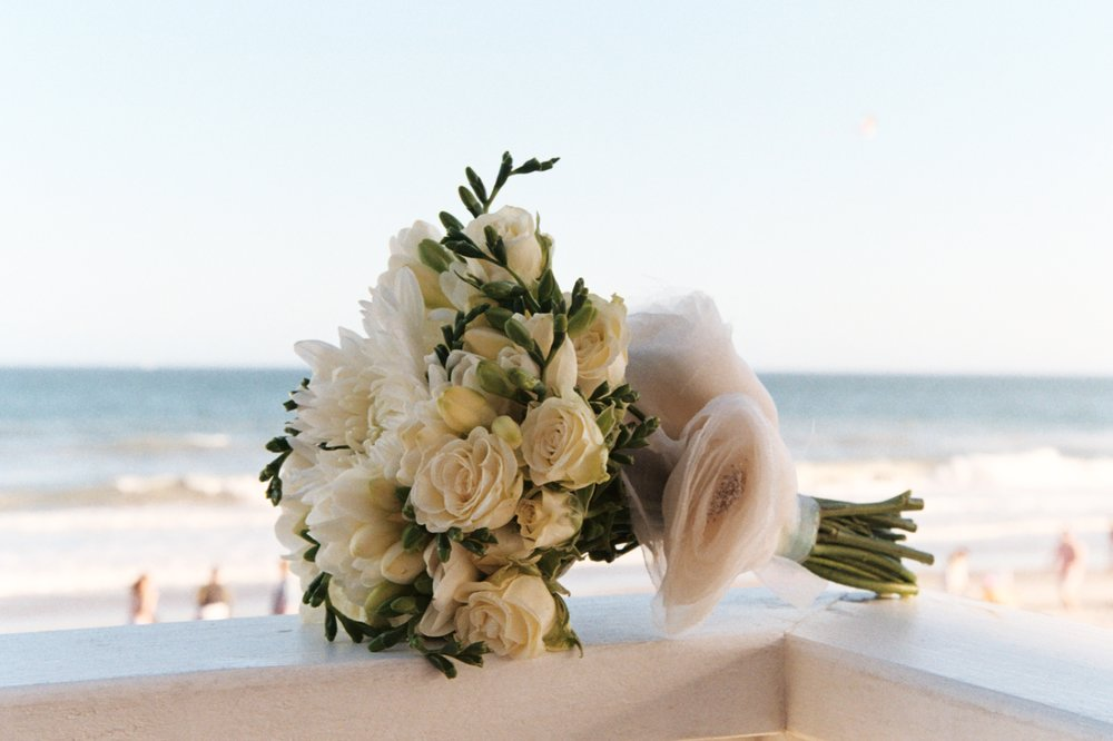 - Bouquet overlooking beach.  Shot on Kodak Color Plus 200.