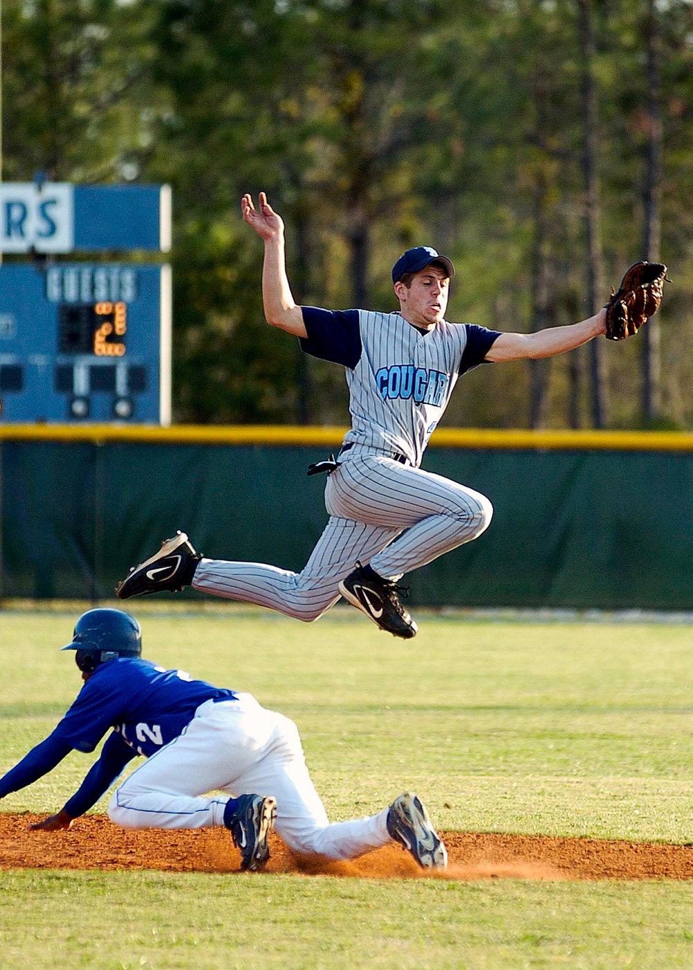 - Baseball Action. Shot on film.