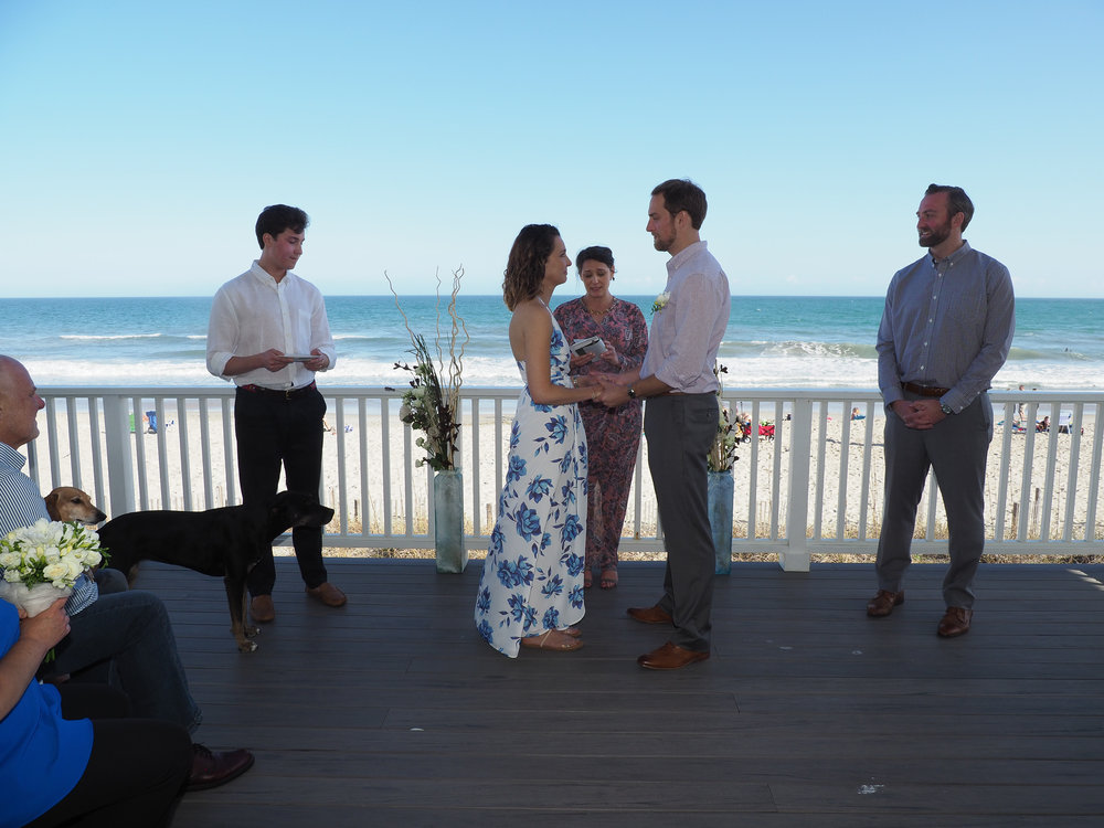 Deck - Wedding Ceremony took place on the deck over looking Wrightsville, Beach, NC.