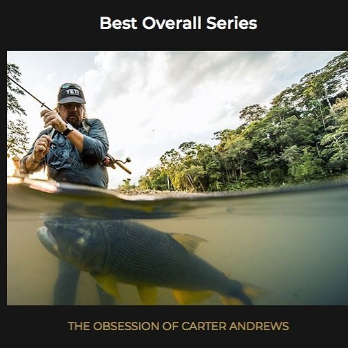 The Obsession of Carter Andrews just won best overall series on The Outdoor Channel! @carterandrewsfishing @outdoorchanneltv #adobepremiere