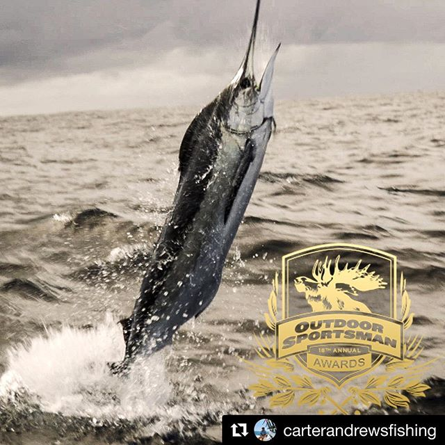 #Repost @carterandrewsfishing ・・・ Thank you all for the support! Honored to win the 18th annual Outdoor Sportsman award for Best Overall Series for #TheObsessionofCarterAndrews. This would not be possible without each and every one of you. Keep your lines tight! @outdoorchanneltv  @seaveeboatsofficial | @mercurymarine | @yeti | @raymarinebyflir | @shimanofish | @yozuri_lures