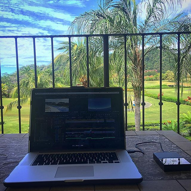 Remote editing work this week... #postproduction #adobepremiere #officeview
