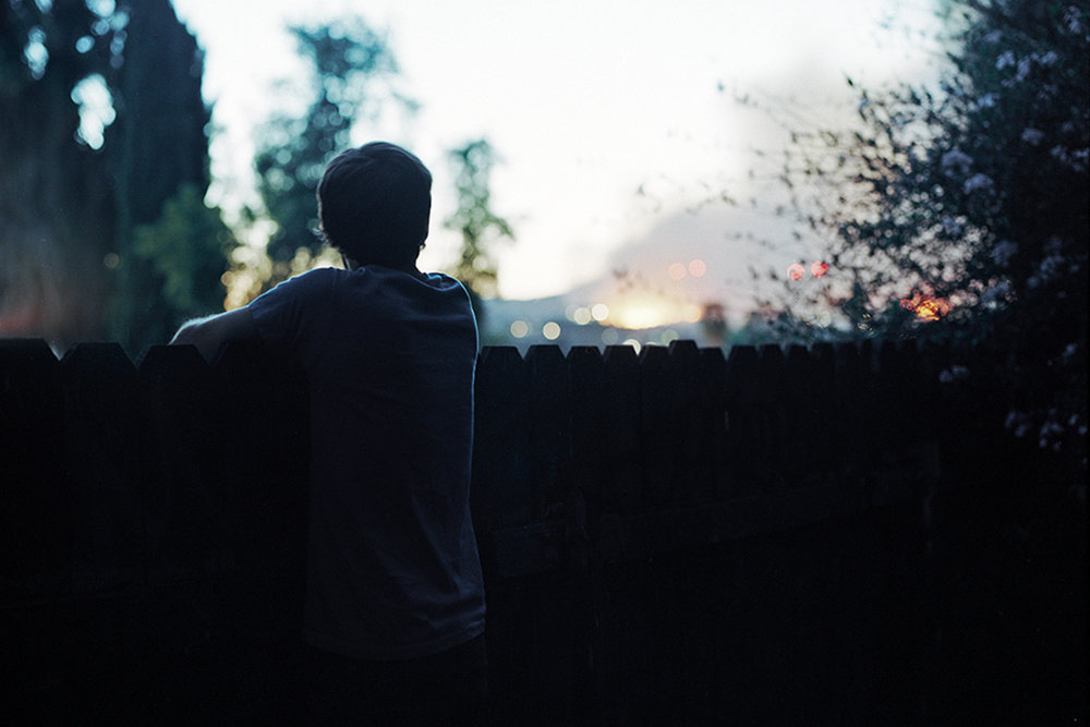 Cole watching Griffith Park fire 2008.jpg