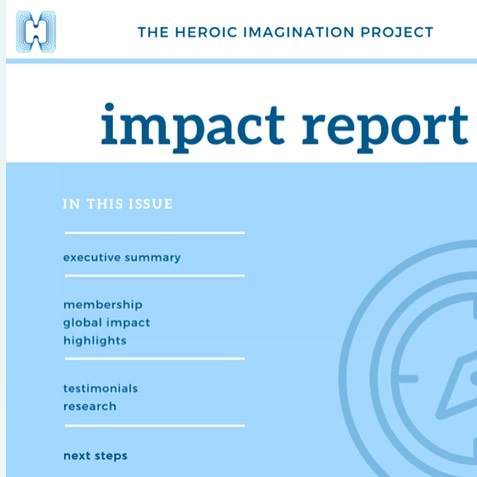 "Check out our newly released 2018 Impact Report to see all we have accomplished together with this community this year. Click ""Blog"" in our website and click the most recent post to view! Happy holidays! .....#herotraining #growthmindset #bystander #everydayheroes"