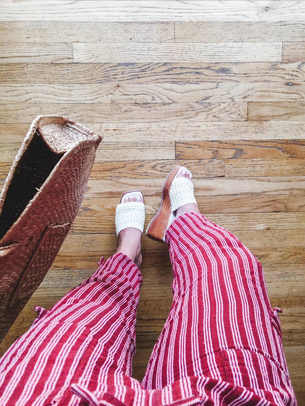 shoes from  house of vintage,  stripey pants from  goodwill