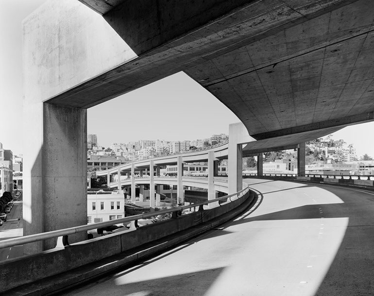 Broadway On/Off ramps - Middle Level. Embarcadero Freeway San Francisco, 1990