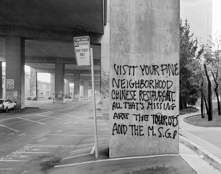 Chinatown Graffiti near Broadway - Ground Level Embarcadero Freeway San Francisco, 1990