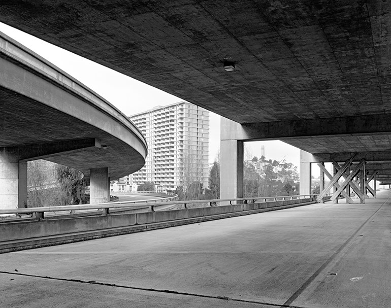 Washington Street on/off ramps - Middle Level. Embarcadero Freeway San Francisco, 1990