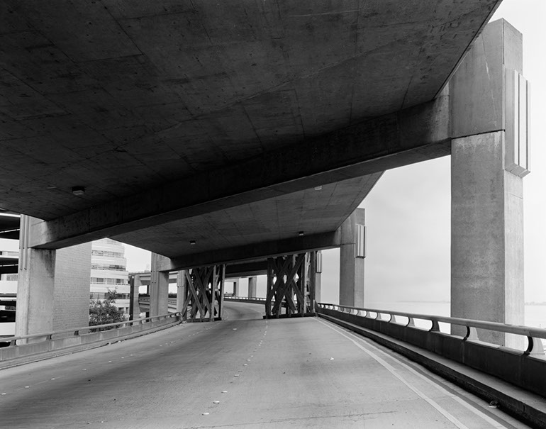 Middle Level at Howard Street. Embarcadero Freeway San Francisco, 1990