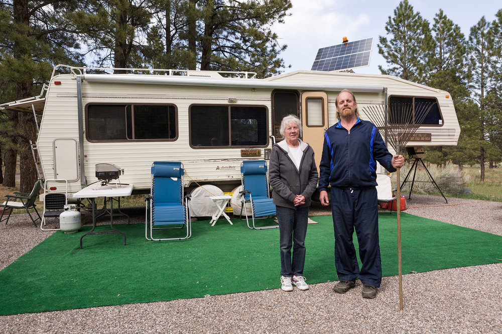 Ralph and Patsy, Campground Hosts. Singletree Campground, Boulder Mountain, UT
