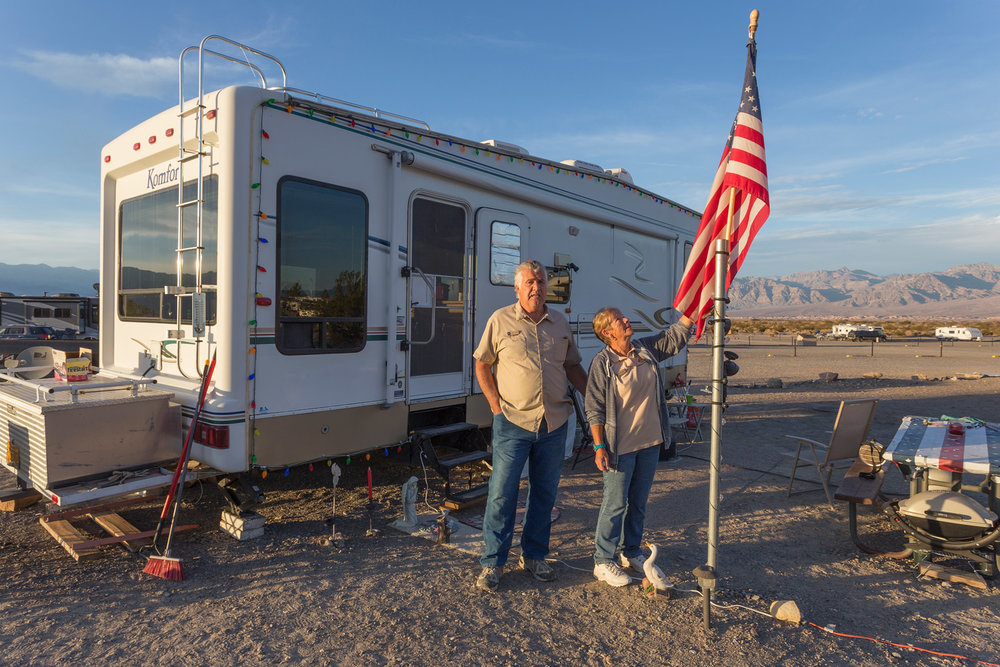 Roger & Elaine, Campground Hosts. Death Valley, CA