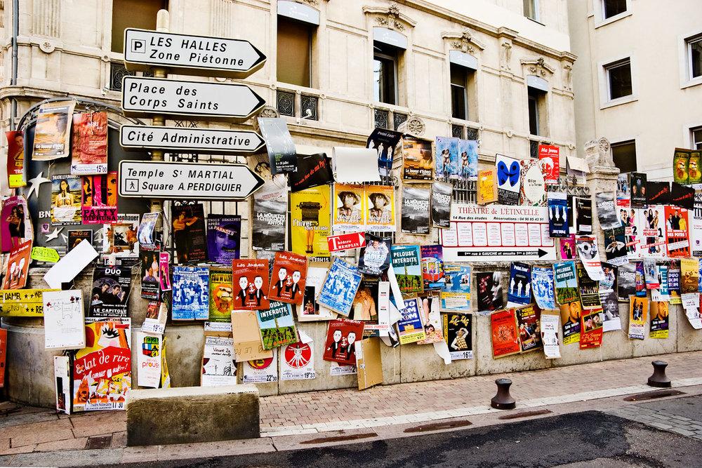 Poster Wars. Avignon, France