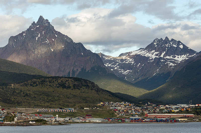 Monte Olivia, Uschria. Argentina. Departure point for Antarctica
