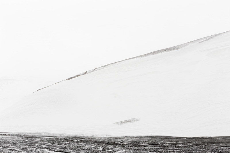 Drifting Snow on Hills. Deception Island, Antarctica