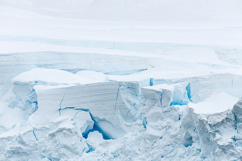 Glaciated Ice. Neko Harbor, Antarctica